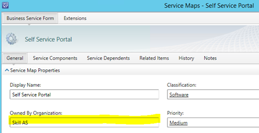 Customize Service Manager Business Services Ci For