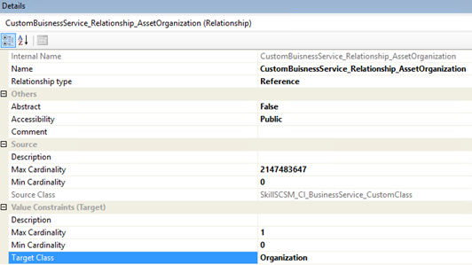 service manager authoring tool relationship help