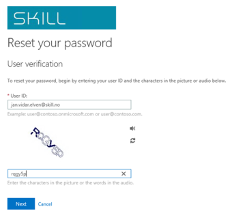 Service Manager Self Service Portal – Password Reset with