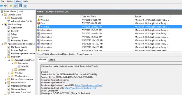 Backend Server Spn a Backend Server Published