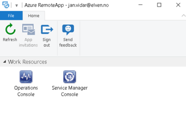 Publish Operations and Service Manager Consoles as Azure