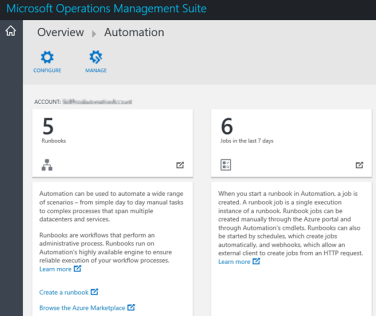 Displaying Azure Automation Runbook Stats in OMS via