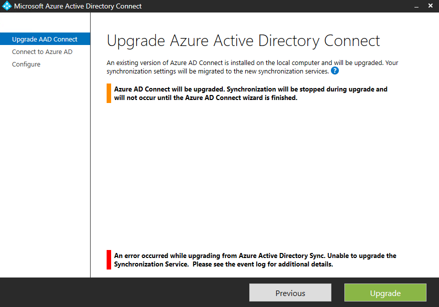 Missing groups prevents upgrade of Azure AD Connect | GoToGuy Blog
