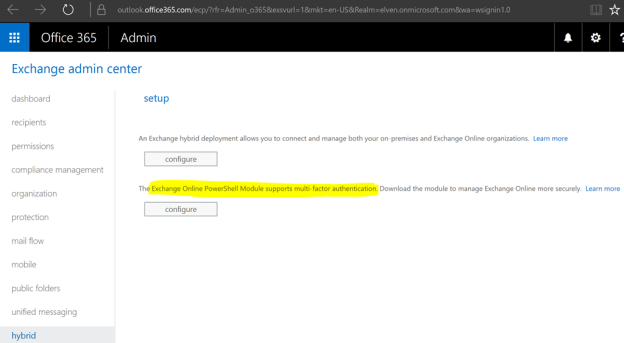 Exchange Online PowerShell with Modern Authentication and Azure MFA