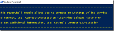 Exchange Online PowerShell with Modern Authentication and
