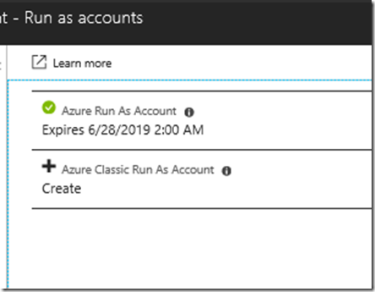 Using the Azure Run As Account in Azure Automation to