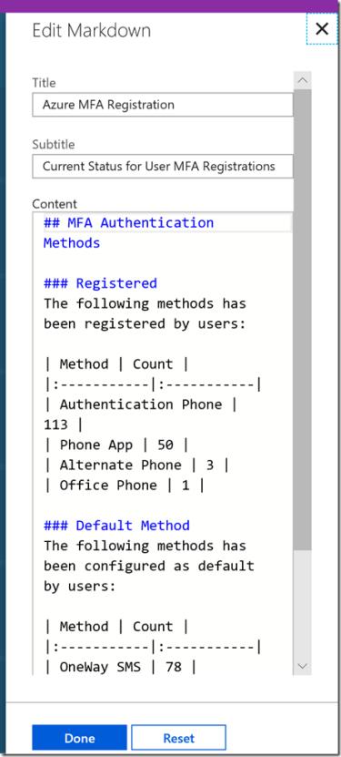 Azure MFA Report Dashboard in Azure Portal–The Good, The Bad