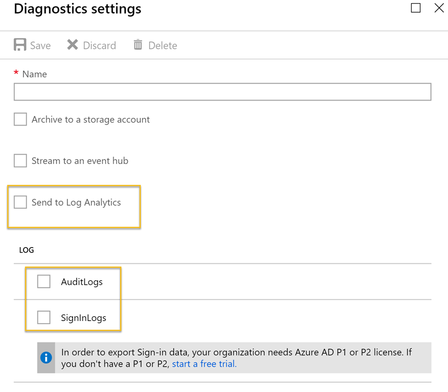 Get started with integration of Azure AD Activity Logs to Azure Log